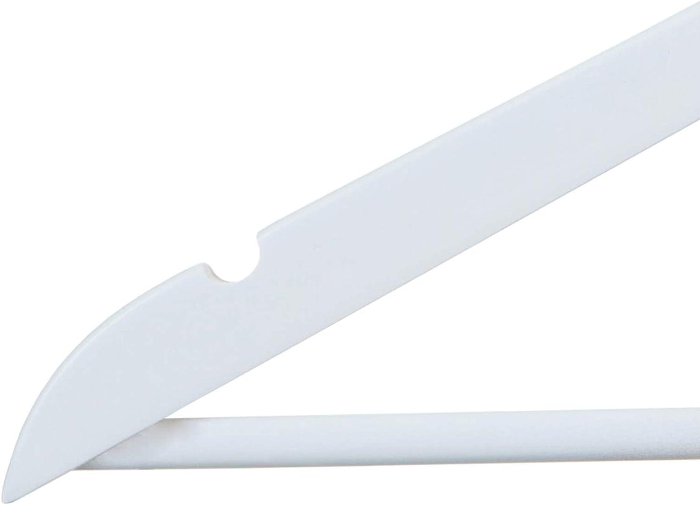 Percha de Ropa en Pack de 40 Unidades TODO HOGAR Percha Madera Color Blanco con Gancho de Acero
