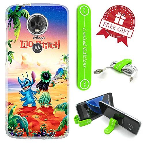 [해외][Ashley Cases] for Moto [G7 Play] Cover Case SkinFlexible Phone Stand - Stitch Lilobeach / [Ashley Cases] for Moto [G7 Play] Cover Case SkinFlexible Phone Stand - Stitch Lilobeach