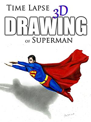 Clip: Time Lapse 3D Drawing of Superman