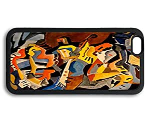 Custom Iphone 6 Plus Case,People mosaic painting like Black Iphone 6 Plus Cases