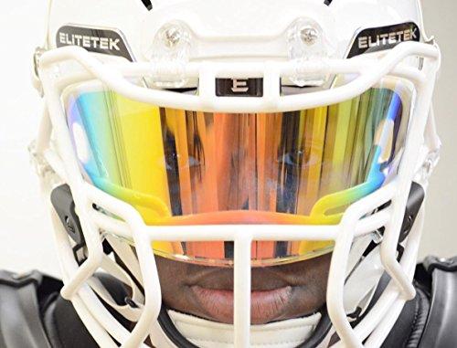 EliteTek Color Football & Lacrosse Eye-Shield Facemask Visor - Fits Youth & Adult Helmets