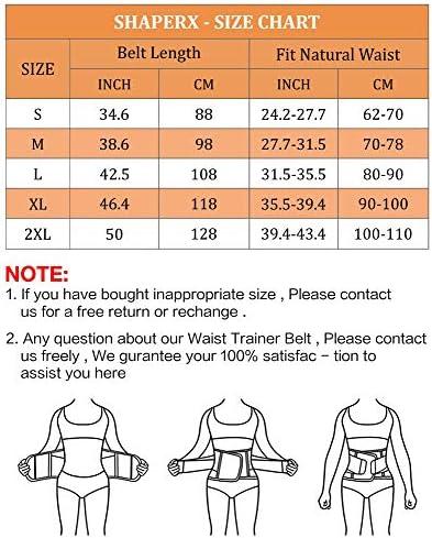 SHAPERX Women Waist Trainer Eraser Belt Tummy Control Waist Trimmer Slimming Belly Band Shaper