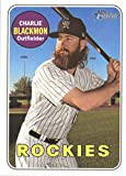 Baseball MLB 2018 Topps Heritage #24 Charlie Blackmon #24 NM Near Mint Rockies