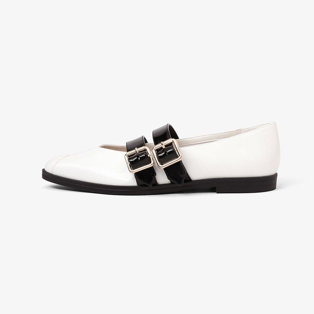 YQQ Zapatos De Cuero Pequeños Zapatos Planos Tacones Bajos Solo Zapato Femenino Sandalias De Mujer Puntiagudo Desplazamientos Dama Niña Casual Acogedor ...