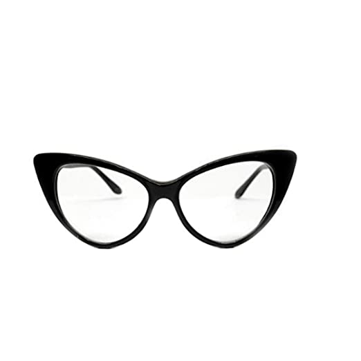 c2e0ca5c5850 Amazon.com: Vintage Cat Eye Clear Sunglasses Eyeglasses Womens Black ...