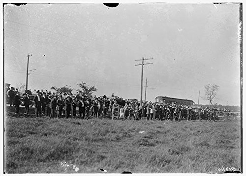 Photo: Wright Brothers, Simms Station, Dayton, Ohio, Wright Flying School, Spectators, 1910 . - Ohio Framing Picture Dayton