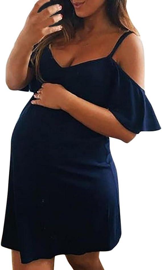 Day8 Robe Femme Enceinte Ete Sexy Grande Taille Mini Jupe Robe Femme Enceinte Photographie Mariage Soiree Courte Robe Maternite Grossesse Bustier Femme Vetements Pas Cher Chic Amazon Fr Vetements Et Accessoires