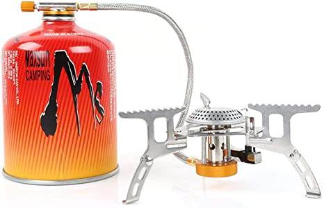 Hornillo de gas de acampada, mini hornillo de bolsillo portátil ...