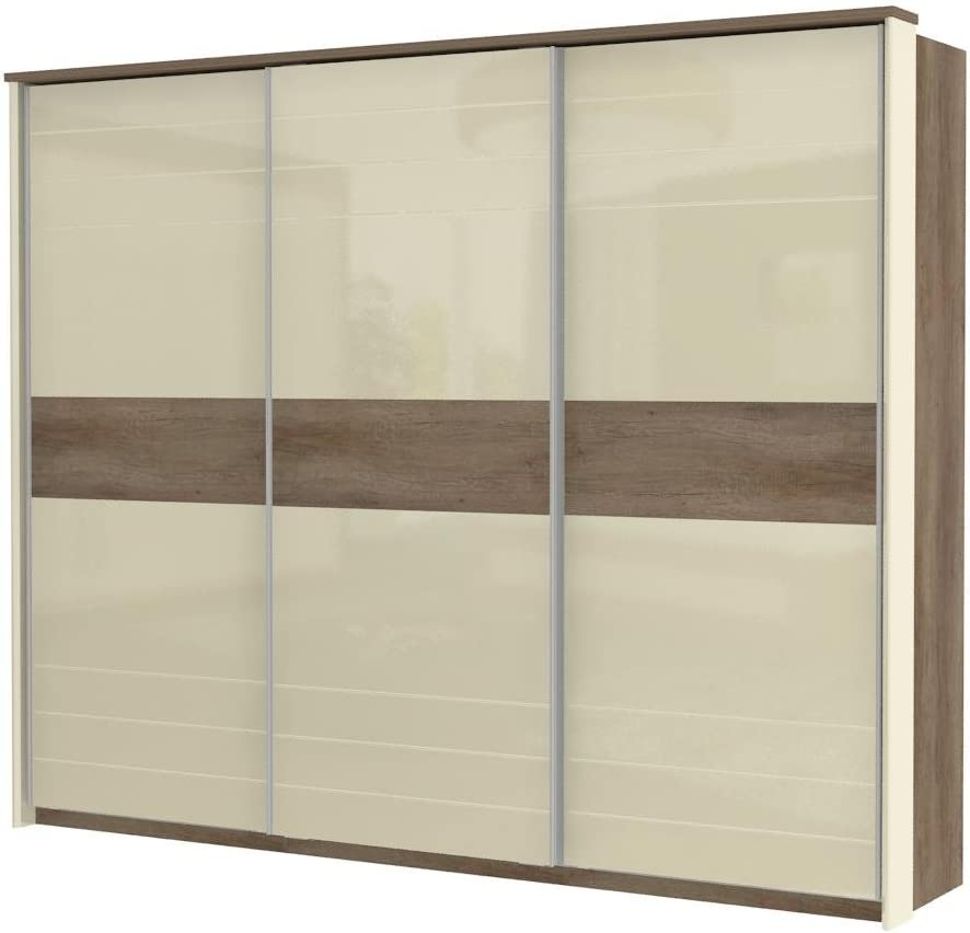 Marrón oscuro Armario de puertas correderas 225 x 278 x 64 cm ...