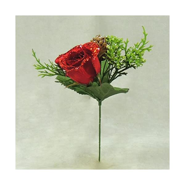Factory Direct Craft Elegant Winters Day Red Rose Stems for Winter Weddings, Parties, and Decorating