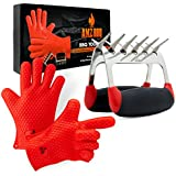BBQ Accessories -  BBQ Gloves and Meat Claws -  Heat-Resistant Silicone Glove and Meat Shredder Must Have for Any BBQ Lover - Great Gift for Father's Day, Dad's Birthday or Anytime for Dad