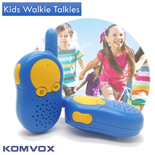 KOMVOX Walkie Talkies for Kids,Kids Walkie Talkies, Birthday Gifts for 3 4 5 6 7 8 9 Years Old Boys, Spy Gear, Cruise Ship Accessories (BLUE)