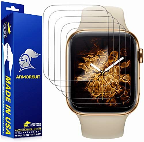 ArmorSuit [6 Pack] MilitaryShield Screen Protector Designed For Apple Watch 40mm Series 6/SE/5/4 Max Coverage Anti-Bubble HD Clear Film