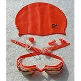 Junior Cap & Goggles Set, Silicone with UV lenses