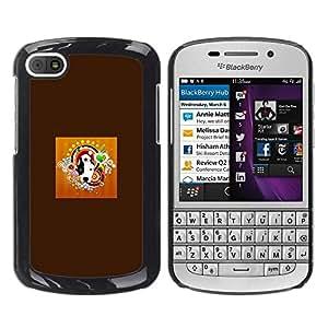 PC/Aluminum Funda Carcasa protectora para BlackBerry Q10 Pit Bull Terrier Bulldog Black White Dog / JUSTGO PHONE PROTECTOR