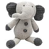 Elegant Baby Elephant Crochet Toy, 9''