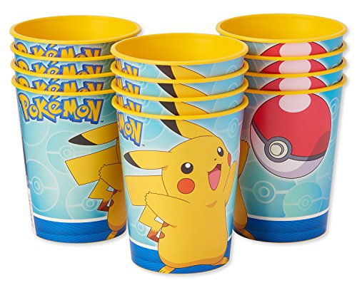 American Greetings Pokemon Party Supplies 16 oz. Reusable Plastic Party Cup, 12-Count -