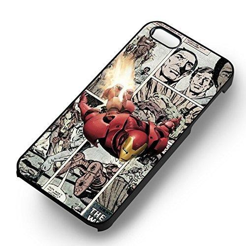 Iron Man Comic pour Coque Iphone 6 et Coque Iphone 6s Case (Noir Boîtier en plastique dur) V2J6MY