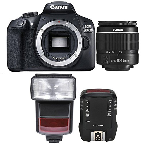 Canon EOS 1300D / Rebel T6 18MP Digtal SLR Camera with 18-55mm IS STM Lens , TTL Speedlite Flash and Accessory Kit