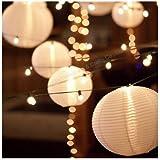 Pack Of 20, Paper Lantern Lamp Shades,Round Paper Lanterns - White (8'' - 20 Pack)