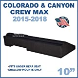 Fits Chevy Colorado & Gmc Canyon Crew-Cab 2015-2018 10' Single Sealed subwoofer Enclosure