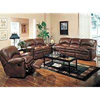 Coaster Walter Leather Rocker Recliner, Brown Bonded Leather