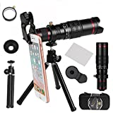 Camera Lens,WMTGUBU 22 X 4 in 1 Telephoto Zoom Camera Lens Kit Double Regulation HD Scale Distance FOV Phone Lens (DN0101)