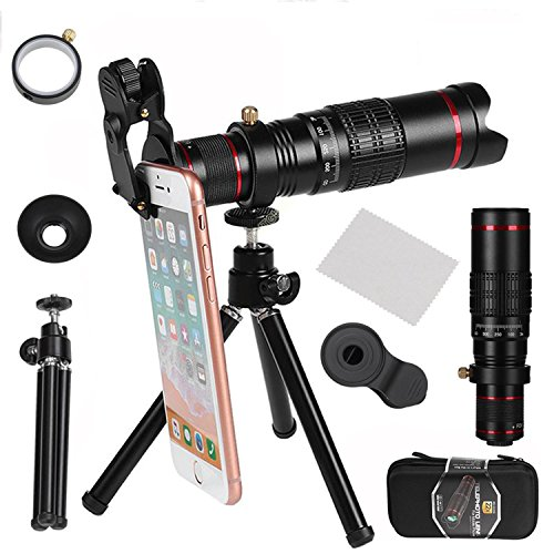 WMTGUBU Camera Lens, 22X Telephoto Camera Lens Kit Double Regulation HD Scale Distance FOV Phone Lens Attachment with Tripod for iPhone X/8/7/7 Plus/6s/6/5,Samsung Galaxy Most Smartphones