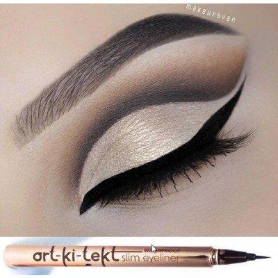 Angel Wing Eyeliner (LA Splash Cosmetics Art-ki-tekt Waterproof SlimLiner Liquid Eyeliner - Chromate)