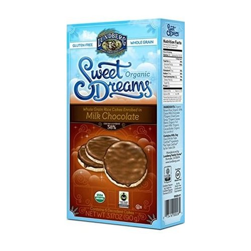 Lundberg Family Farms Sweet Dreams Rice Cakes Enrobed in Milk Chocolate 6 Ct