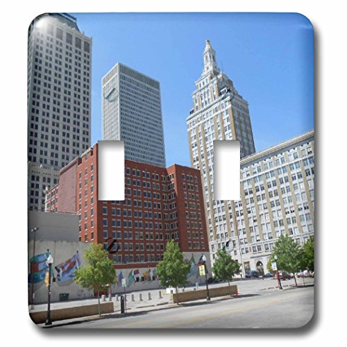 3dRose Cities Of The World - City Of Tulsa, Oklahoma - Light Switch Covers - double toggle switch - Oklahoma Outlet City