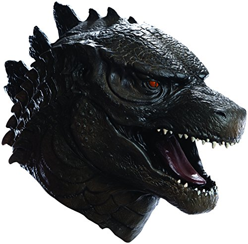 [Men's Godzilla Deluxe Overhead Latex Mask, Multi, One Size] (Mothra Costumes)