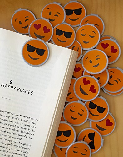 Emoticon''Clip over the Page'' Bookmarks - 36 Bulk Bookmarks for Kids girl's boys- School Student Incentives – Library incentives – Reading Incentives - Party Favor Prizes - Classroom Reading Awards! by Reading Rewards