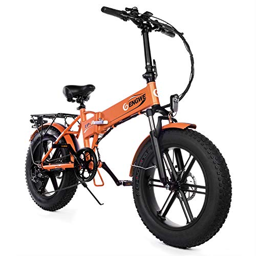 "ENGWE Electric Mountain Bicycle 500W 20"" Fat Tire Electric Folding"