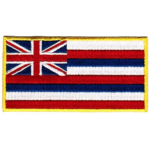 - Hawaii State Flag Embroidered Patch Iron-On HI Hawaiian Islands Emblem