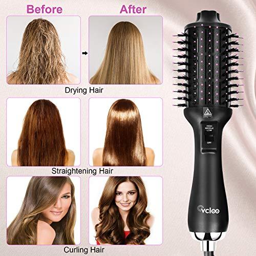Hair Dryer Brush Hot Air Brush 4 in 1 Negative Ion Blow Dryer Women One Step Brush Styler Set for straightener, Volumizer,Curling, Salon