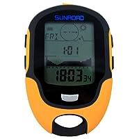 Sunroad Altimetre Multifonction Exterieure Digital LCD Barometre Boussole thermometre hygrometre reveil Previsions Meteo torche LED