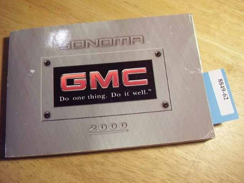 2000 GMC Sonoma Owners Manual