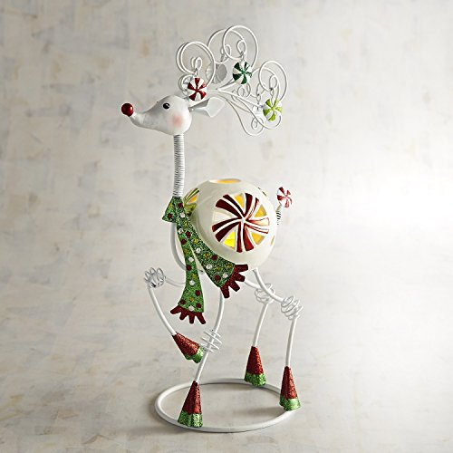 Pier 1 Imports Small Bobblehead Reindeer Tealight Candle Holder (Pier 1 Imports Decor)