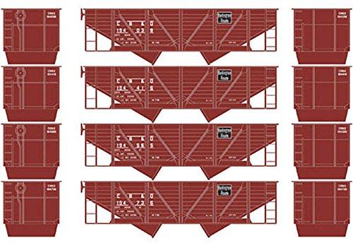 HO 34' 2-Bay Hopper w/Coal Load, CB&Q #2 (4) ()