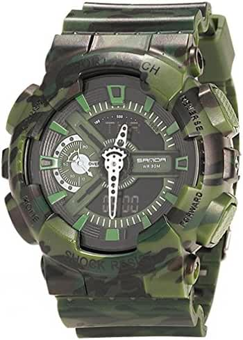 Boys Watch Analog Digital Quartz Electronic Sport Watch Chronograph Automatic Wristwatches Green