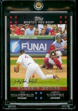 2007 Boston Red Sox LIMITED EDITION Team Edition Baseball Card # BOS43 Jason Varitek - Tim Wakefield