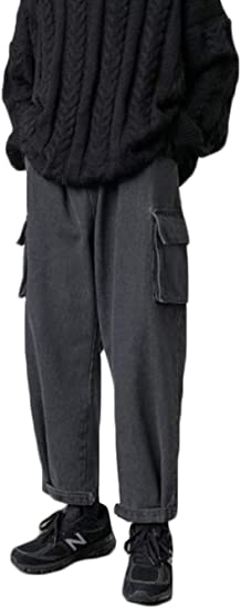 Gergeousデニムパンツ メンズ ロングパンツ ゆったり ジーンズ ストレート ポケット付き おしゃれ カーゴパンツ デニム カジュアル ジーパン ストリート系 秋 冬