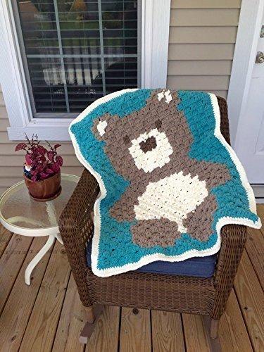 Crochet Teddy Bear Baby Blanket by Penguin Yarns
