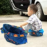 Emergency Toilet for Kids - 4 Times, Travel Potty Seat Folding Portable Hygienic Instant Potty for Babies, Toddlers and Kids, Great for Road Trip, Camping, Traveling, Hiking and Car Essential: more info