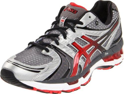 ASICS Mens GEL-Kayano 18 Running Shoe,Lightning/Flame/Black,10.5 M US