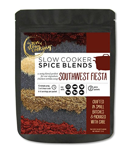the zen of slow cooking, Gourmet Slow Cooker Spice Blends, Southwest Fiesta, 2 Gluten Free and Salt Free Spice Packets