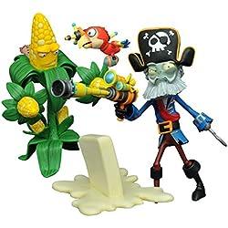 Diamond Select Toys Plants vs. Zombies: Kernel Corn vs. Captain Deadbeard Select Action Figure (2 Pack)