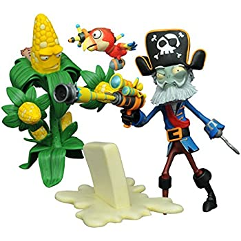 Diamond Select Toys Plants vs. Zombies: Kernel Corn vs. Captain Deadbeard Select Action Figure (2 Pack)