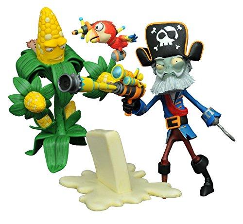 Diamond Select Toys Plants vs. Zombies: Kernel Corn vs. Captain Deadbeard Select Action Figure (2 Pack) (Corn Vs Plants Zombies)